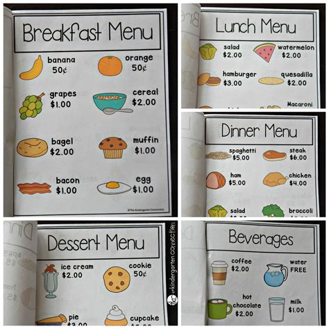 Play Store Like Template Restaurant Dramatic Play The Kindergarten Connection