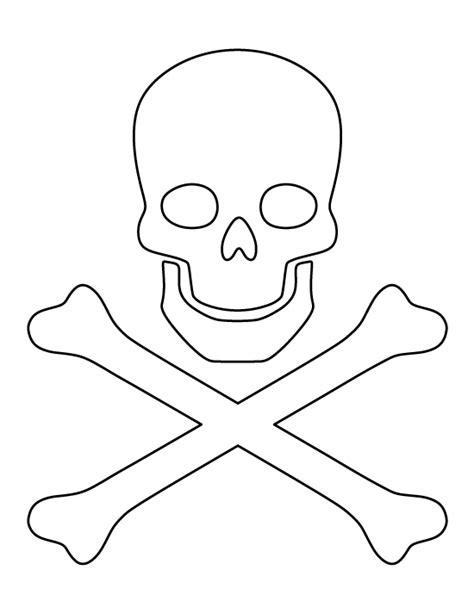 Skull And Crossbones Cake Template