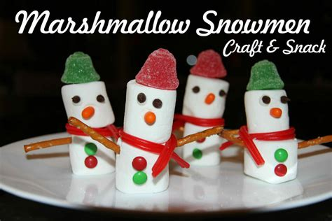 marshmallow crafts for xmas bible craft snack marshmallow snowmen