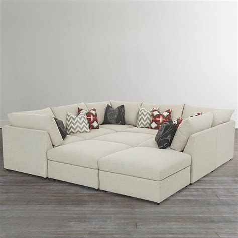 bassett modular sectional sofa bassett beckham 3974 3974 psect custom modular pit