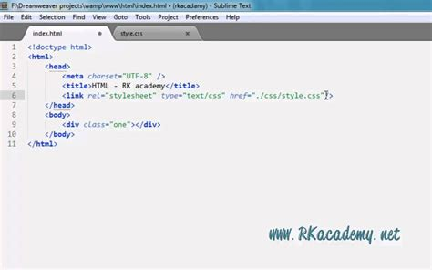 css tutorial link stylesheet using css external stylesheet in html with link tag youtube