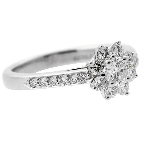 Tiffany & Co. Diamond Platinum Flower Ring   Opulent Jewelers