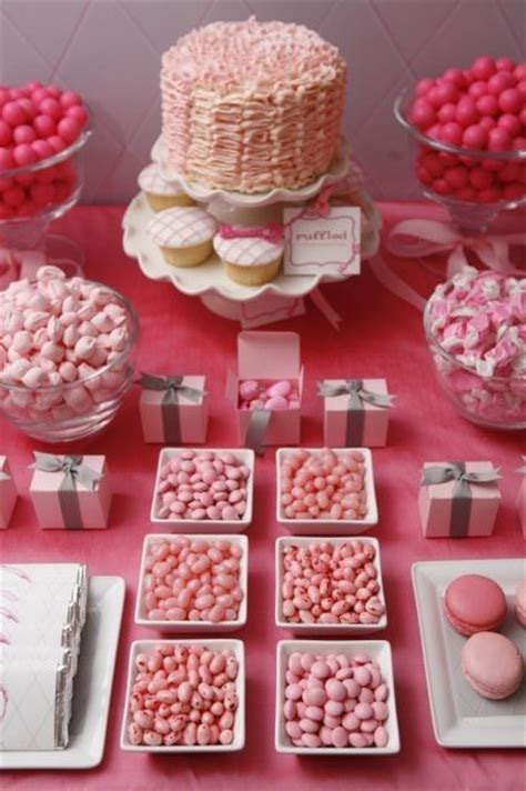 pink party dessert buffet this would be great for a baby