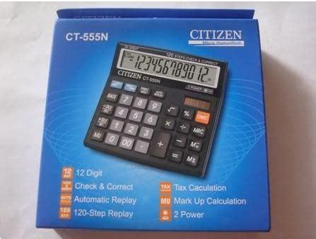Calculator Citizen 12 Digit Bisa Check Back Correct citizen ct555n calculator check correct function 12 digits calculator at best prices