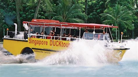 duck boat entering water city tour on wwii hibious duck singapore all expedia