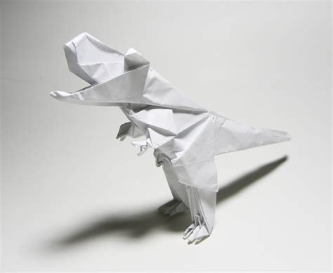 Origami T Rex - origami t rex by twistedndistorted on deviantart