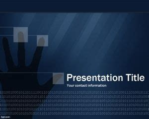 technology security powerpoint template ppt template