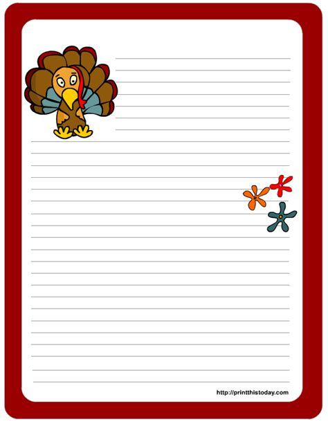 Thanksgiving Letter Template free printable thanksgiving stationery