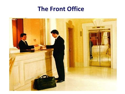 the hotel front office