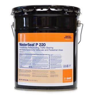 Masterseal 540 Waterproofing masterseal p 220 primer 2 part 4 gal kit