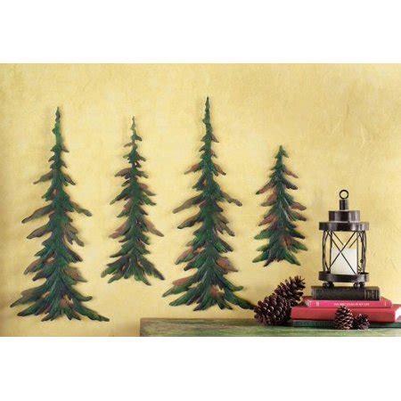 evergreen pine tree metal wall decor set walmart