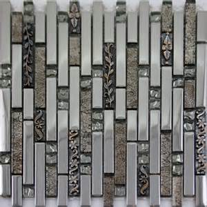 Mosaic Tiles For Kitchen Backsplash Metal Coating Strip Tiles Crystal Glass Mosaic Tile