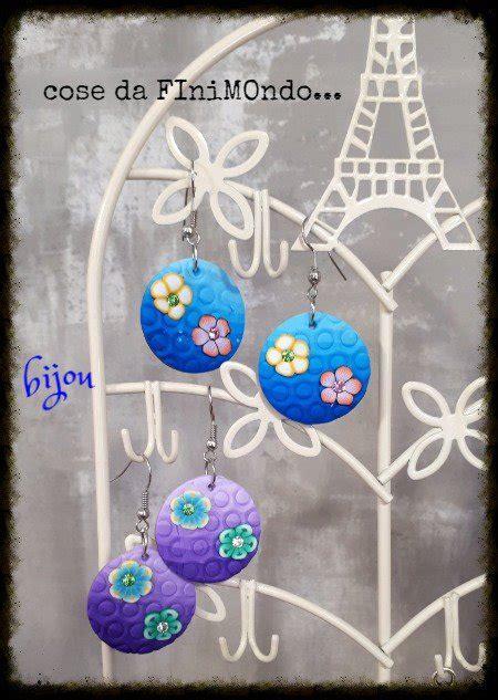 fimo fiori orecchini in fimo con fiori gioielli orecchini di