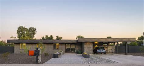 front elevation  renovated al beadle mid century modern