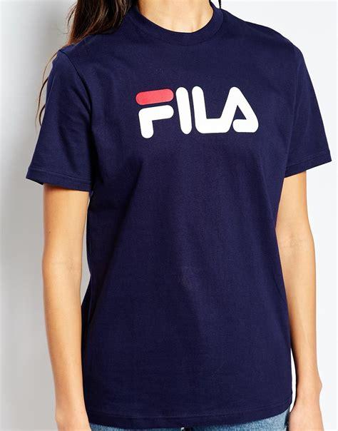 T Shirt Fila 2 fila oversized boyfriend t shirt with front logo in blue