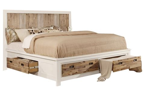western beds western king bed with storage at gardner white
