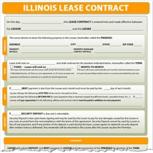 Lease Termination Letter Illinois Illinois Lease
