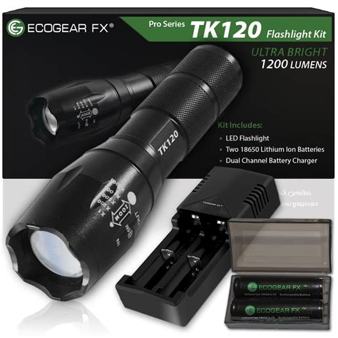 tactical leds tk120 tactical led flashlight kit with zoom function