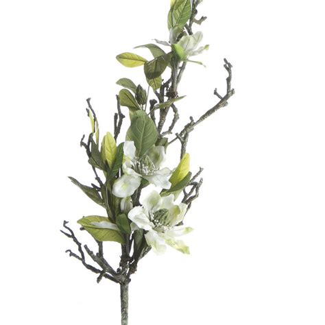 white artificial magnolia branch floral sale sales