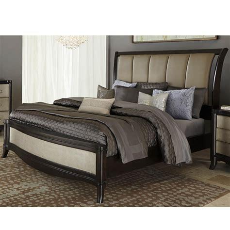 upholstered sleigh bed headboard king upholstered headboard sleigh bed set image 11 bed