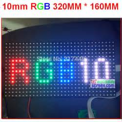 Modul P10 Rgb Smd Color Indoor Promo Gratis Tutorial Interface 10mm pixel color module indoor semi outdoor hub 75 1 8 scan 320 160mm 32 16 pixel smd 3 in