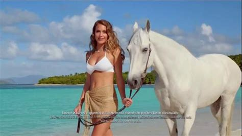 direct tv commercial actress on horse directv tv spot hannah davis and her horse walking