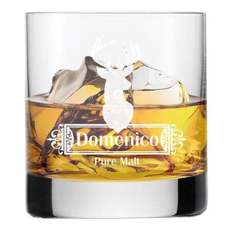 bicchieri da whisky bicchiere da whisky inciso cervo idee regalo originale