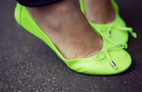 neon flats shoes shoes neon yellow shoes ballet flats fluo yellow fluo
