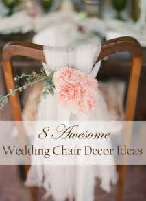 Wedding chair decoration ideas for rustic weddings