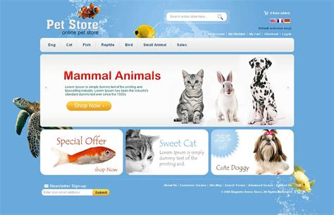magento themes pet store mag070108 premium magento pet store template