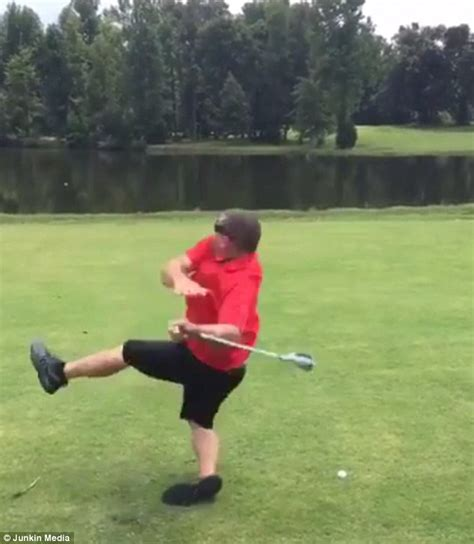 golf swing funny video of drunk golfer attempting to hit the ball but falls