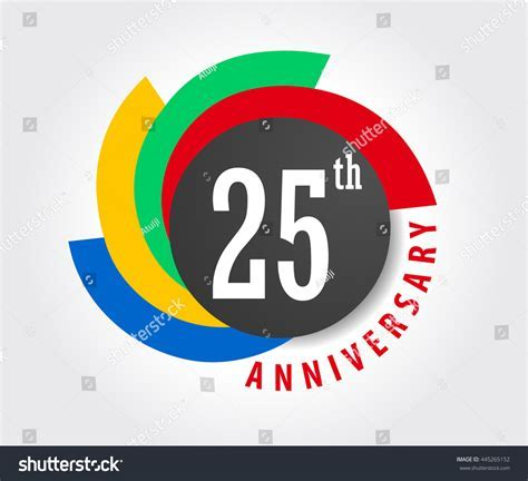25th Anniversary Celebration Background 25 Years Stock