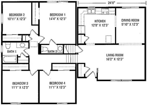 california split floor plan floorplans from maryland modular homes