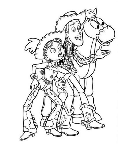 woody and jessie coloring pages