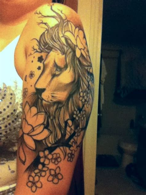 lion flower tattoo with flowers search