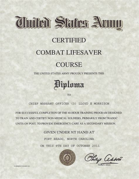 combat lifesaver certificate template wall of fame j
