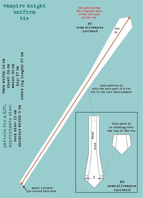 sewing pattern necktie vire knight uniform pattern tie by demonviridian on