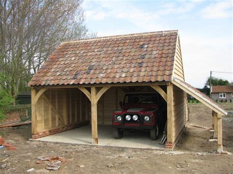 Oak Car Port by Oak Buildings Norfolk Ml Oak Buildings Renovations Ltd