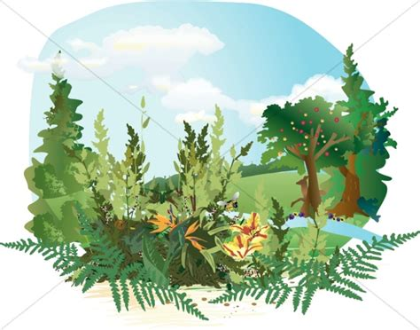 garden clip paradise clipart adam and clipart