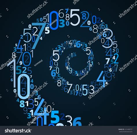 infinity number spiral different numbers vector infinity symbol stock