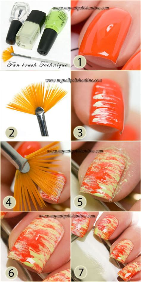 nail art brushes tutorial nail art sunday fan brush technique tutorial my nail