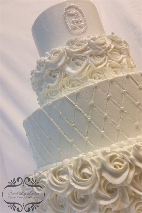 Wedding Cake Quilting by Buttercream Rosette And Quilt Wedding Cake Cakecentral