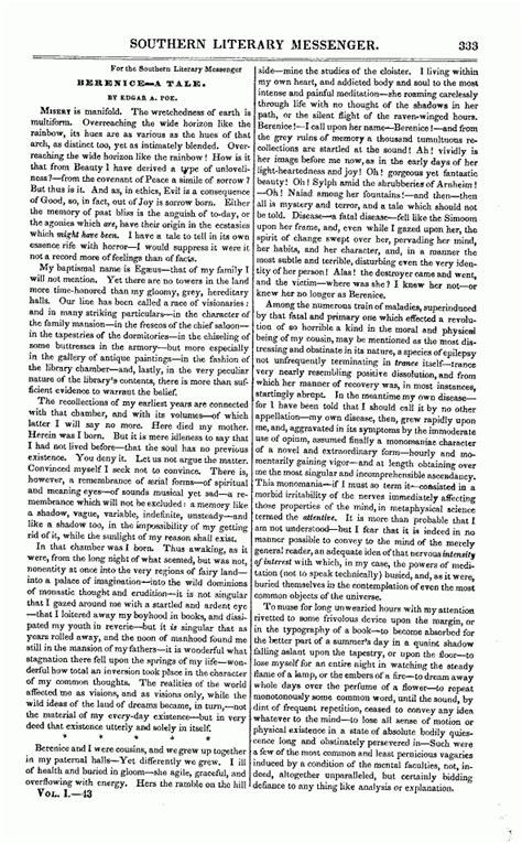 edgar allan poe biography work cited analysis of the poem by edgar allan poe quot bridal ballad