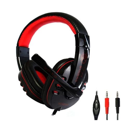 Headset Mic Gaming kinbas hifi gaming headset dengan mic vp x9 black