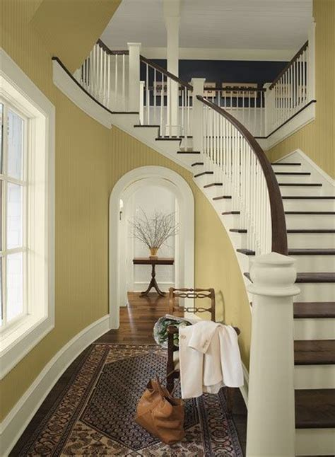 pottery barn yellow paint colors combination for hallways and entryways cork a pottery
