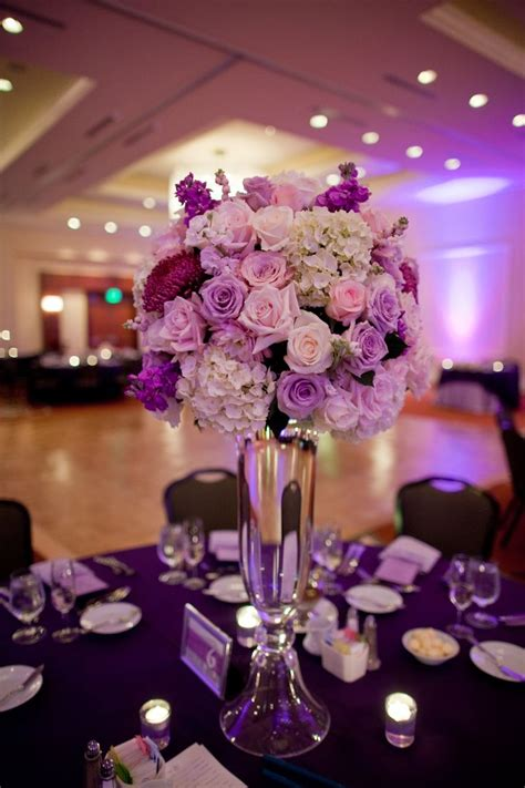 best 25 purple flower centerpieces ideas on