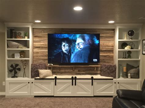 hand crafted painted built in tv cabinetry by tony o 17 diy entertainment center ideas and designs for your new