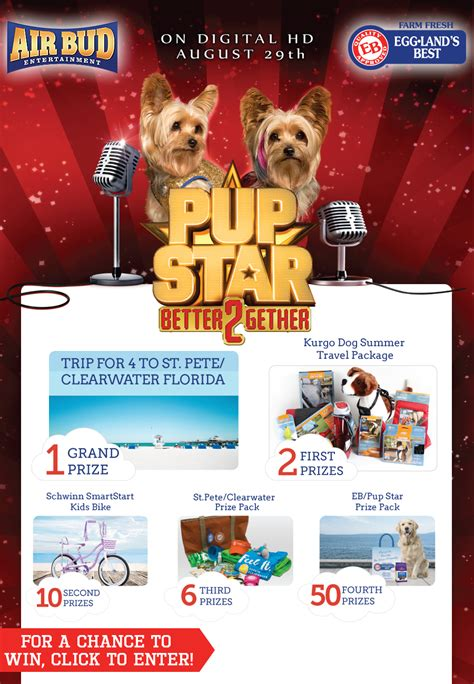Freebies Sweepstakes - pup star better together sweepstakes julie s freebies