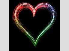 Neon Rainbow Hearts Wallpaper Loading