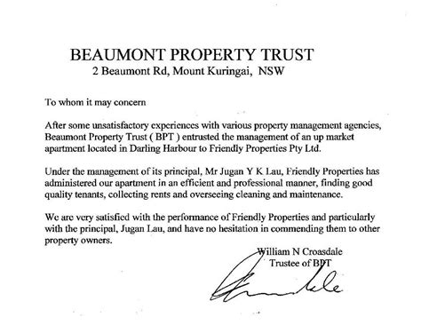 Excellent Tenant Reference Letter Welcome To Friendly Properties Success The Friendly Way